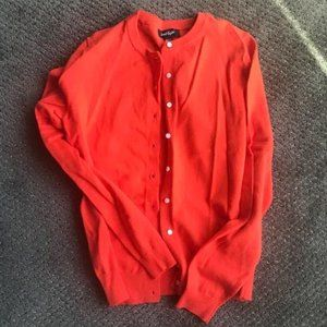Orange Cotton Cardigan from Lord and Taylor